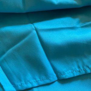 Blue Dust Ruffle - Twin Bed